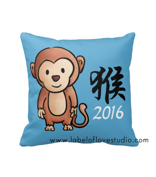Year of the Monkey Cushion