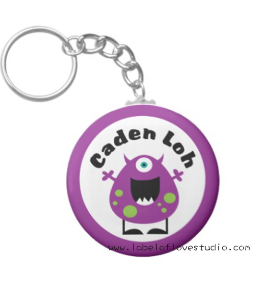 Purple Monster Bag Tag