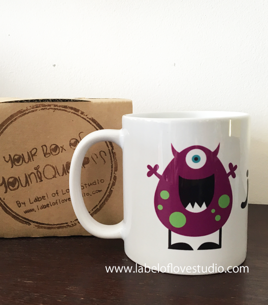Cute Monster Personalized Cup