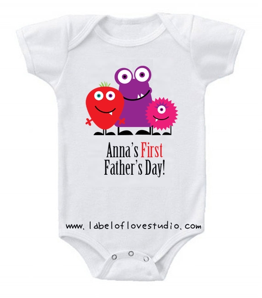 Lil' Monster First Father's Day Romper/ Tee