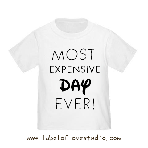 Most Expensive Day Ever Vacation Romper/ Tee