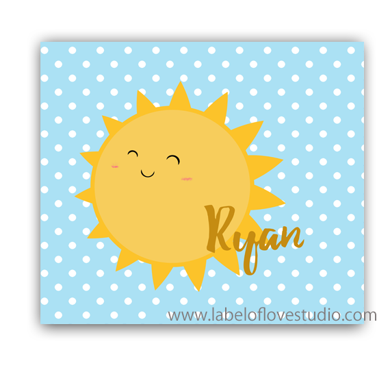 Mr Sunshine Personalized Security Blanket
