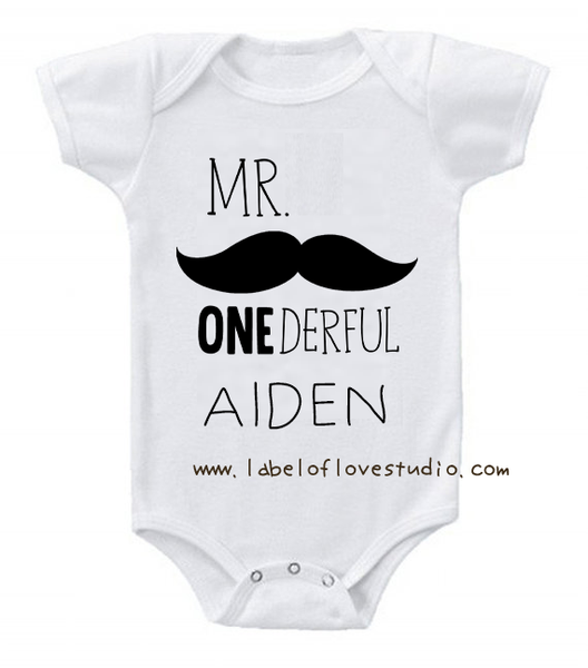 Mr Onederful Romper/ Tee