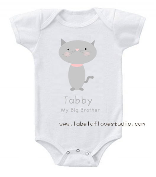 My Big Bro is a Cat Romper/ Kid Tee