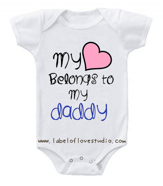 My heart belongs to my Daddy romper/ tee