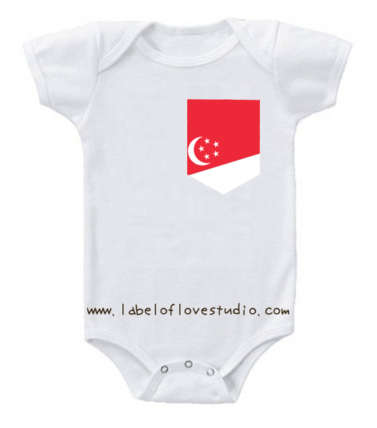 Singapore Pocket Personalized romper/ tee