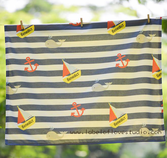 Nautical Big Personalized Blanket