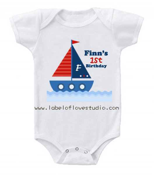 Nautical Birthday Romper/ Tee