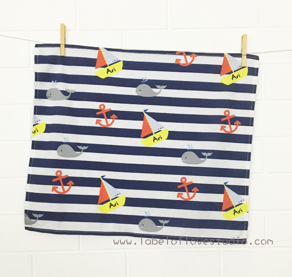 Nautical Personalized Security Blanket