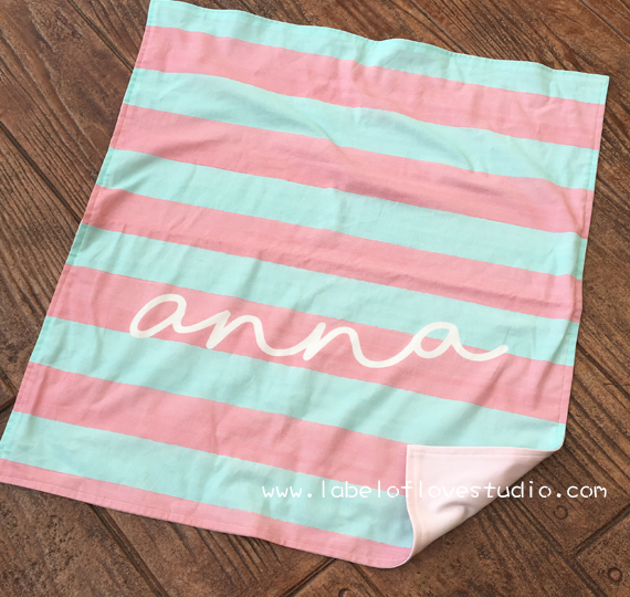 Pastel Stripes Personalized Security Blanket