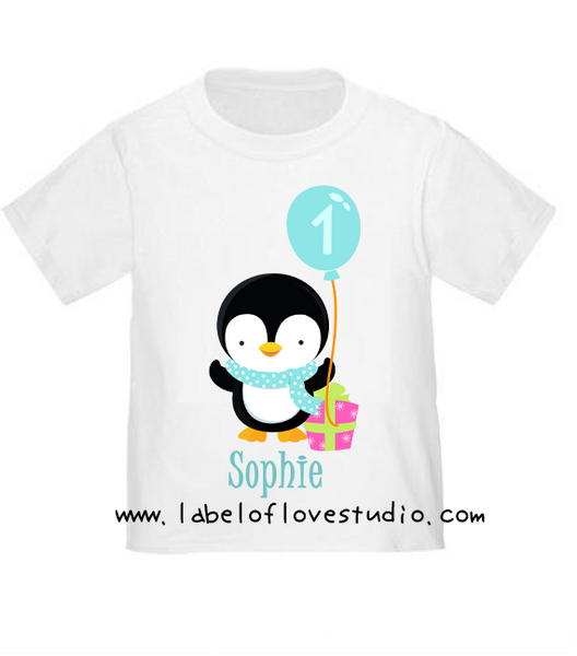 Penguin Birthday Romper/ Tee