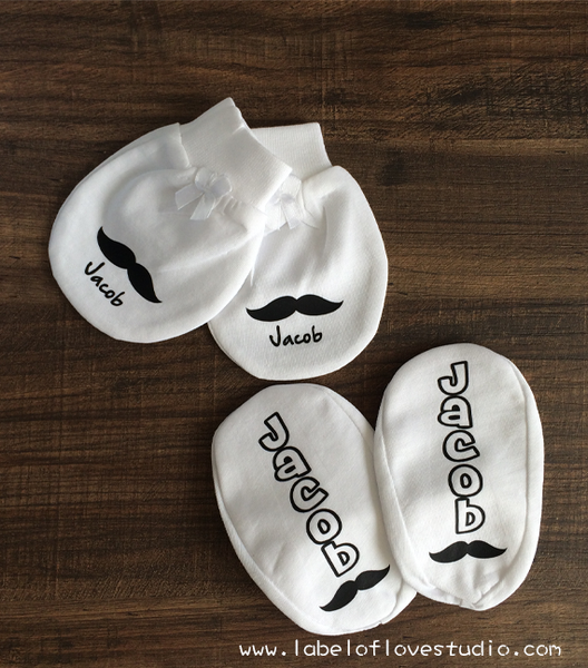 Personalized Mittens and Booties (choose your own design)