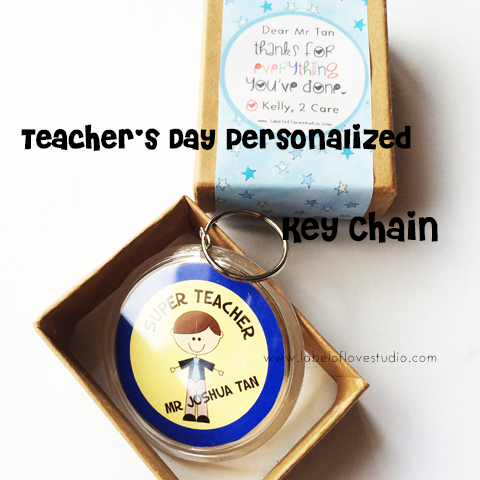 Personalized Teacher's Day Keychain
