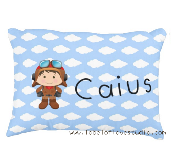Little Pilot Personalized Pillow