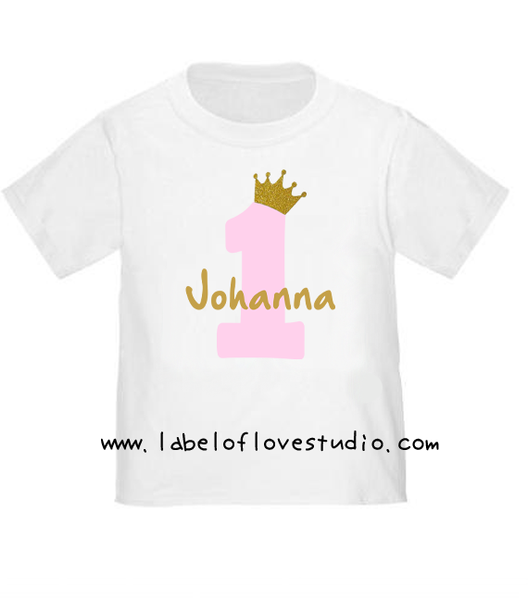 Pink Princess Birthday Romper/ Tee