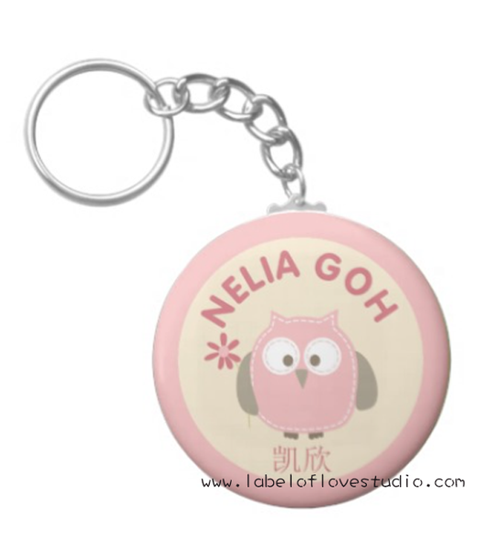 Pink Owl Bag Tag