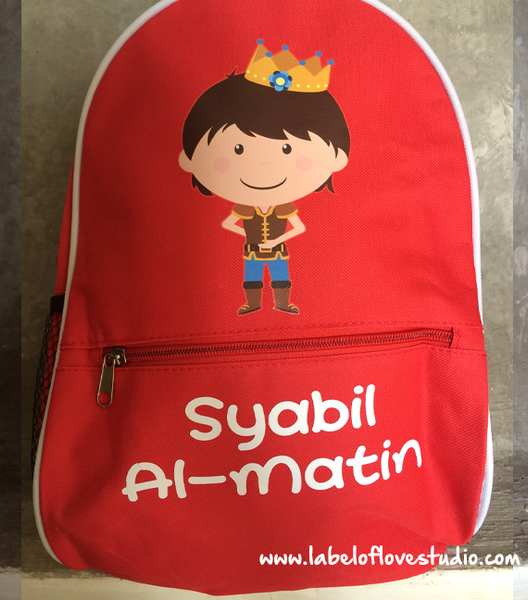 Personalized Prince Sapphire Backpack