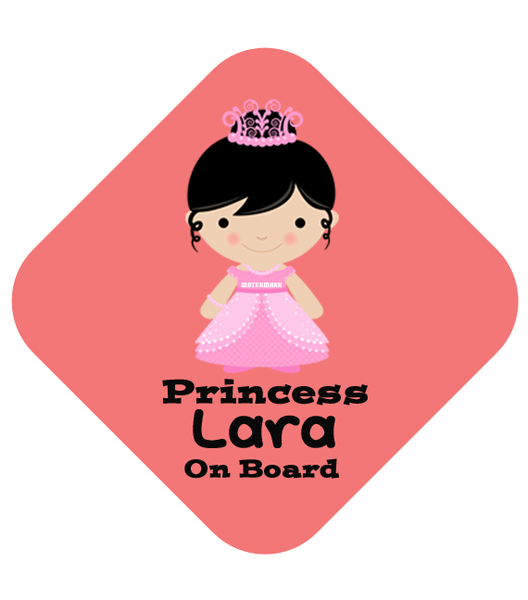Princess Bunny Car Sign