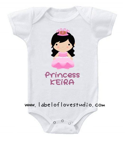 Princess Long Locks Romper/ Tee