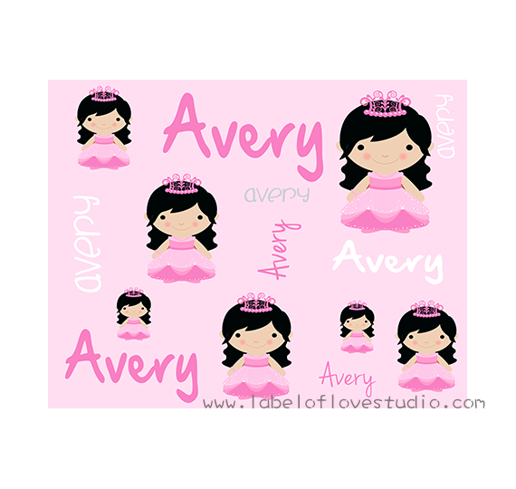 Pretty Princess Personalized Security Blanket