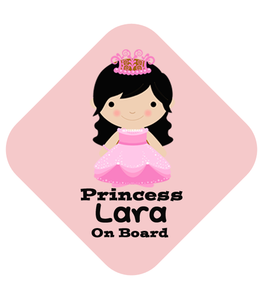 Princess Long Locks Car Sign