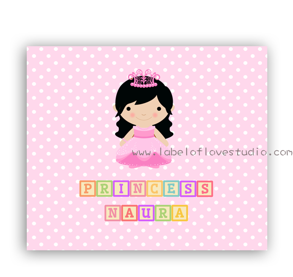 Princess Long Locks Personalized Security Blanket