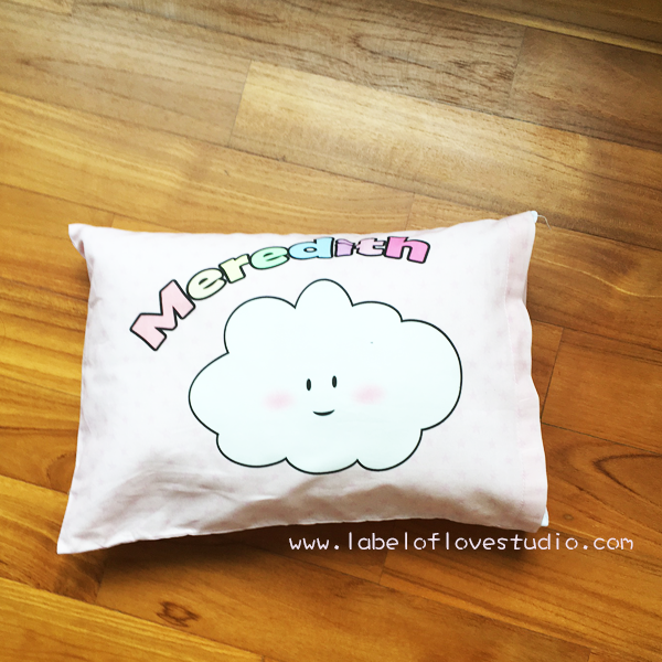 Puffy Cloud Personalized Pillow