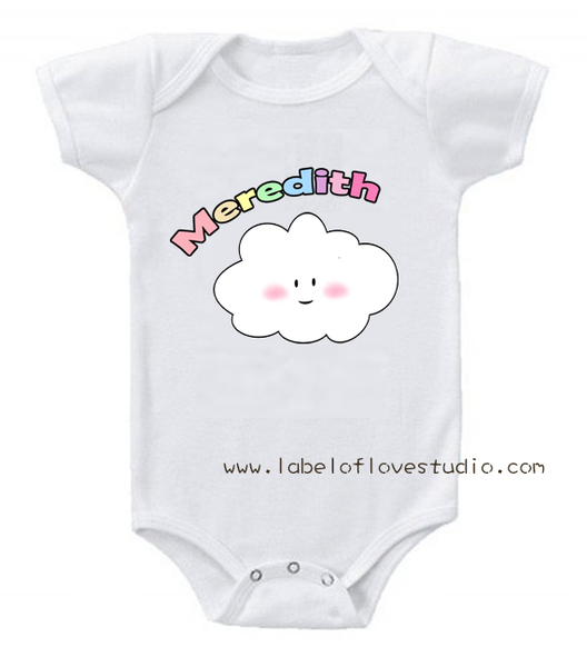 Puffy Cloud Romper/Tee