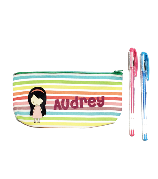 Rainbow Stripes Pencil Case