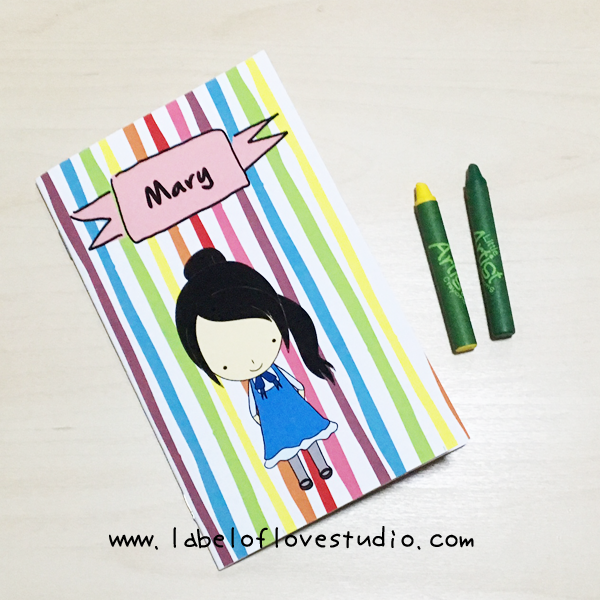 Rainbow Stripes Notebook