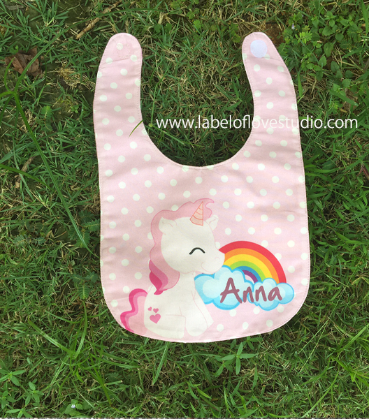 Rainbow Unicorn Bib