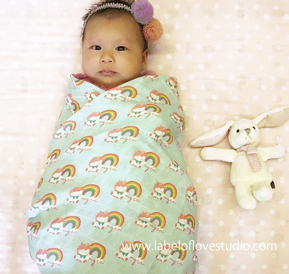 Rainbow Unicorn Swaddle