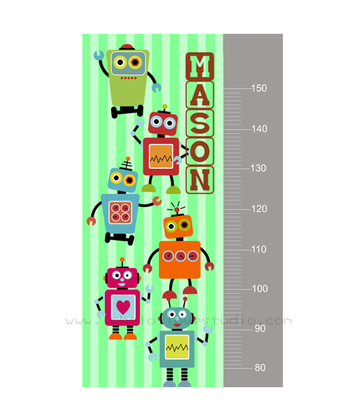 Little Robots Height Chart