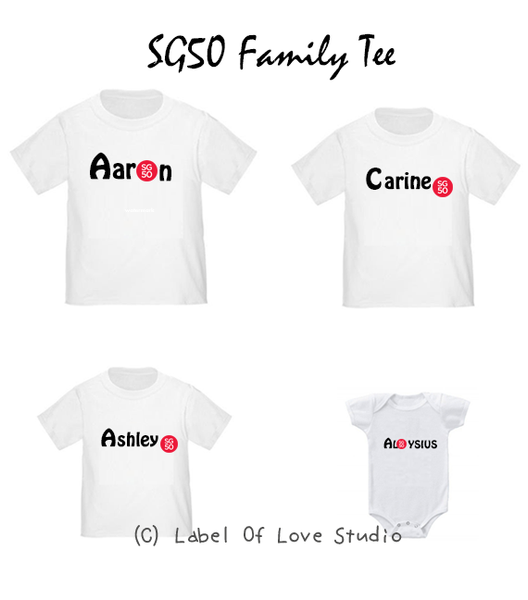 SG50 Personalized romper/ tee