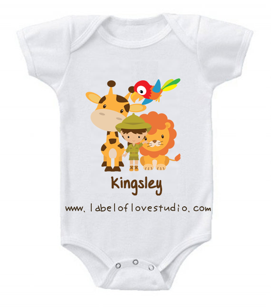 Kid in Safari Romper/ Tee