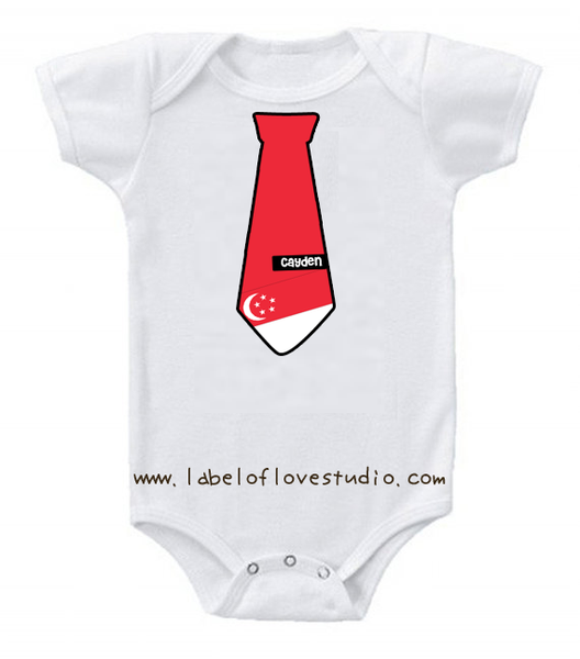 Singapore Tie Personalized romper/ tee