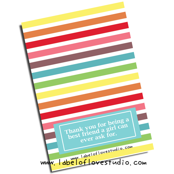 Stripey Rainbow Notebook