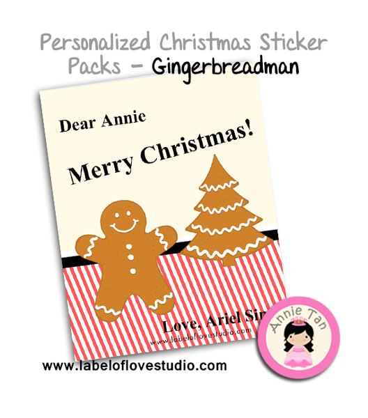 Personalized Sticker Packs (Gingerbreadman)