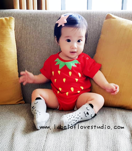 Strawberry Romper/ Tee