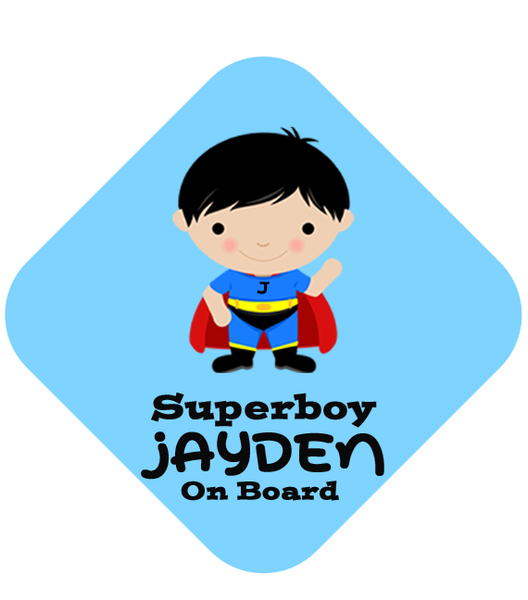 Super Boy Car Sign