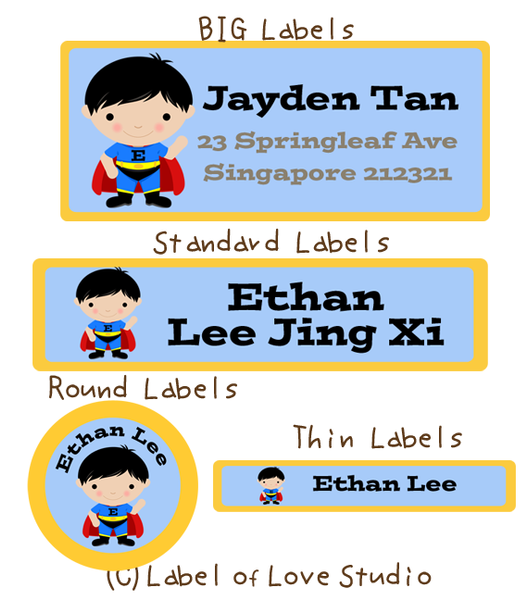 Super Boy Waterproof Labels
