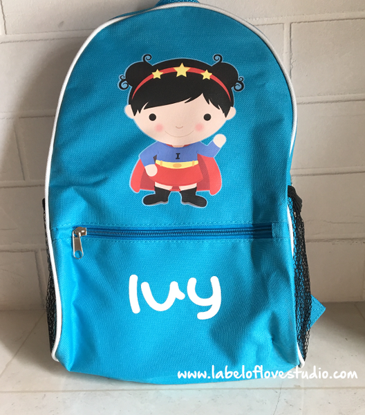Super Girl Personalized Backpack