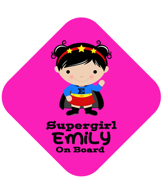 Super Girl Car Sign