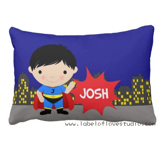 Pow Wow Super Boy Personalized Pillow