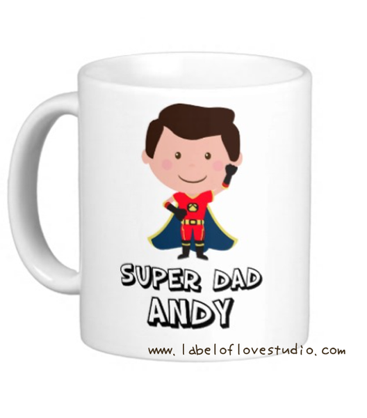 Super Dad Personalized Cup