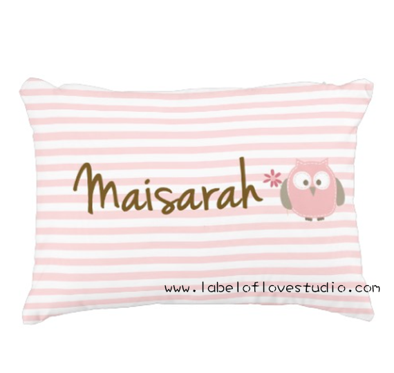 Sweet Owl Personalized Pillow