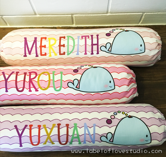 The Jolly Whale Personalized Bolster