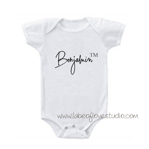 Trademark Name Romper/ Tee