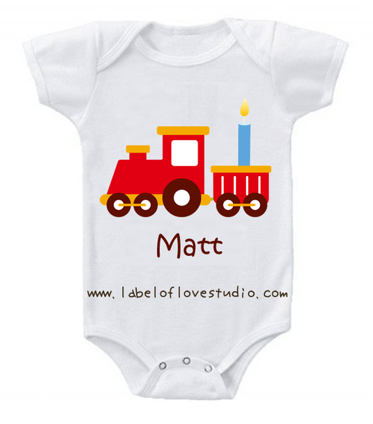 Train Birthday Romper/ Tee