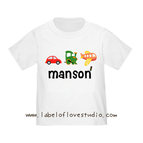 Happy Vehicles Romper/ Tee